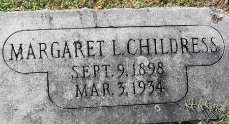 CHILDRESS, MARGARET L - Pulaski County, Arkansas | MARGARET L CHILDRESS - Arkansas Gravestone Photos