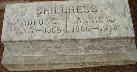 CHILDRESS, ANNIE M. - Pulaski County, Arkansas | ANNIE M. CHILDRESS - Arkansas Gravestone Photos