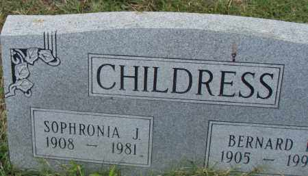 CHILDRESS, BERNARD - Pulaski County, Arkansas | BERNARD CHILDRESS - Arkansas Gravestone Photos