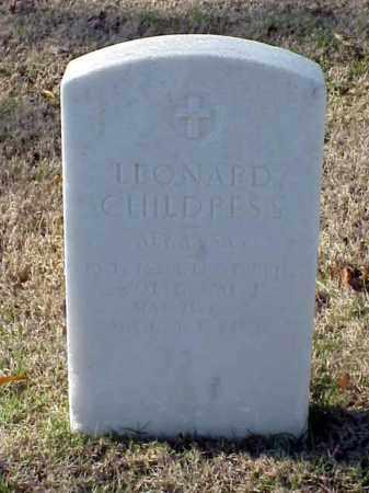 CHILDRESS (VETERAN WWI), LEONARD - Pulaski County, Arkansas | LEONARD CHILDRESS (VETERAN WWI) - Arkansas Gravestone Photos