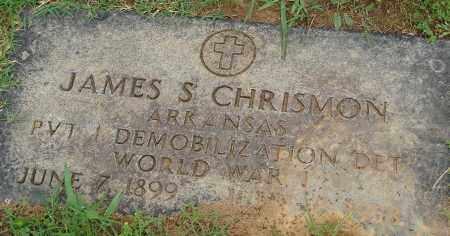 CHRISMON (VETERAN WWI), JAMES S - Pulaski County, Arkansas   JAMES S CHRISMON (VETERAN WWI) - Arkansas Gravestone Photos