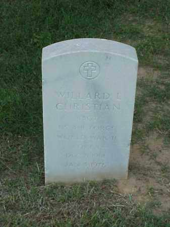 CHRISTIAN (VETERAN 2 WARS), WILLARD L - Pulaski County, Arkansas | WILLARD L CHRISTIAN (VETERAN 2 WARS) - Arkansas Gravestone Photos