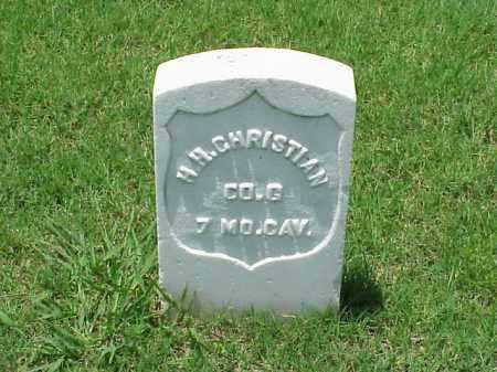 CHRISTIAN (VETERAN UNION), HENRY H - Pulaski County, Arkansas   HENRY H CHRISTIAN (VETERAN UNION) - Arkansas Gravestone Photos