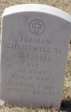 CHRISTWELL, SR  (VETERAN WWI), FURMAN - Pulaski County, Arkansas   FURMAN CHRISTWELL, SR  (VETERAN WWI) - Arkansas Gravestone Photos