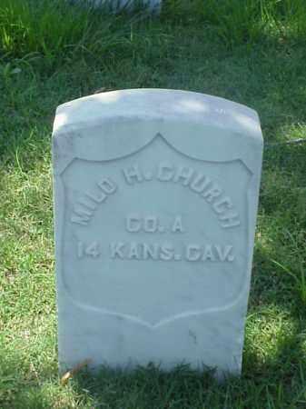 CHURCH (VETERAN UNION), MILO H - Pulaski County, Arkansas   MILO H CHURCH (VETERAN UNION) - Arkansas Gravestone Photos