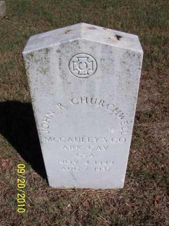 CHURCHWELL (VETERAN CSA), JOHN R - Pulaski County, Arkansas | JOHN R CHURCHWELL (VETERAN CSA) - Arkansas Gravestone Photos