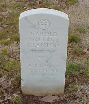 CLANTON  (VETERAN WWII), HAROLD WALLACE - Pulaski County, Arkansas | HAROLD WALLACE CLANTON  (VETERAN WWII) - Arkansas Gravestone Photos