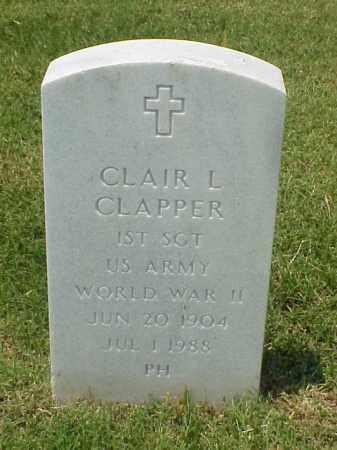 CLAPPER (VETERAN WWII), CLAIR L - Pulaski County, Arkansas | CLAIR L CLAPPER (VETERAN WWII) - Arkansas Gravestone Photos
