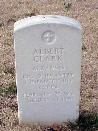 CLARK (VETERAN KOR), ALBERT - Pulaski County, Arkansas   ALBERT CLARK (VETERAN KOR) - Arkansas Gravestone Photos