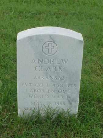 CLARK (VETERAN WWI), ANDREW - Pulaski County, Arkansas | ANDREW CLARK (VETERAN WWI) - Arkansas Gravestone Photos
