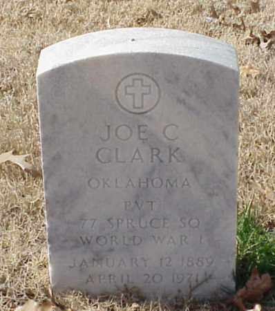 CLARK (VETERAN WWI), JOE C - Pulaski County, Arkansas   JOE C CLARK (VETERAN WWI) - Arkansas Gravestone Photos