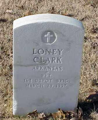 CLARK (VETERAN WWI), LONEY - Pulaski County, Arkansas | LONEY CLARK (VETERAN WWI) - Arkansas Gravestone Photos