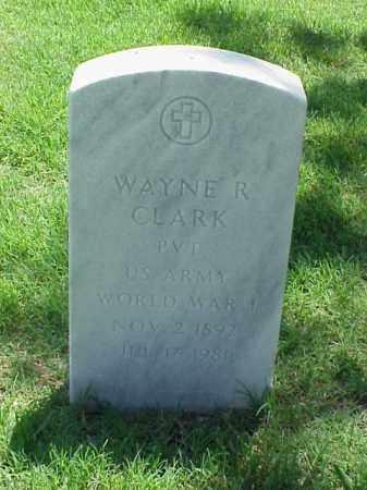 CLARK (VETERAN WWI), WAYNE R - Pulaski County, Arkansas   WAYNE R CLARK (VETERAN WWI) - Arkansas Gravestone Photos