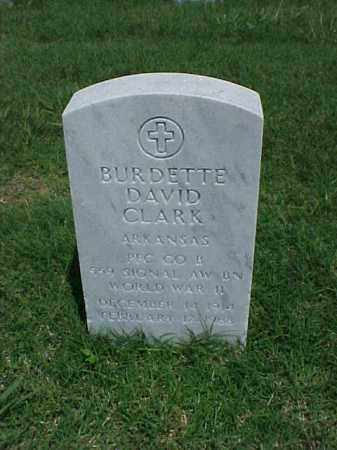 CLARK (VETERAN WWII), BURDETTE DAVID - Pulaski County, Arkansas | BURDETTE DAVID CLARK (VETERAN WWII) - Arkansas Gravestone Photos
