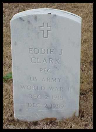 CLARK (VETERAN WWII), EDDIE J - Pulaski County, Arkansas   EDDIE J CLARK (VETERAN WWII) - Arkansas Gravestone Photos