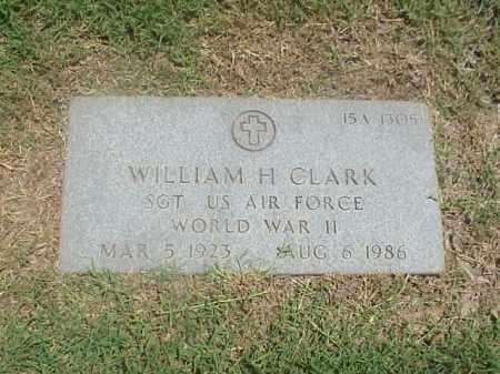 CLARK (VETERAN WWII), WILLIAM H - Pulaski County, Arkansas | WILLIAM H CLARK (VETERAN WWII) - Arkansas Gravestone Photos