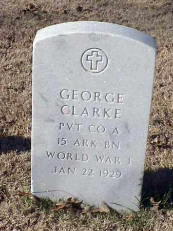 CLARKE (VETERAN WWI), GEORGE - Pulaski County, Arkansas | GEORGE CLARKE (VETERAN WWI) - Arkansas Gravestone Photos