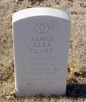 CLARY (VETERAN WWI), JAMES ALEX - Pulaski County, Arkansas   JAMES ALEX CLARY (VETERAN WWI) - Arkansas Gravestone Photos