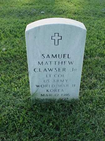 CLAWSER, JR (VETERAN 2 WARS), SAMUEL MATTHEW - Pulaski County, Arkansas | SAMUEL MATTHEW CLAWSER, JR (VETERAN 2 WARS) - Arkansas Gravestone Photos