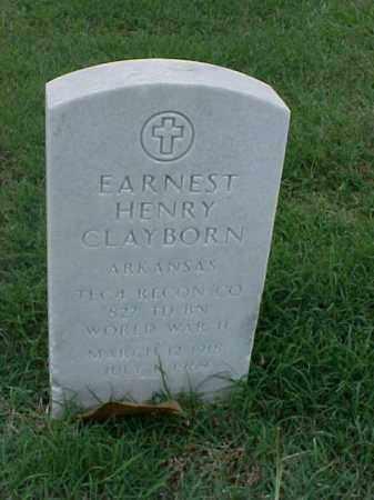 CLAYBORN (VETERAN WWII), EARNEST HENRY - Pulaski County, Arkansas | EARNEST HENRY CLAYBORN (VETERAN WWII) - Arkansas Gravestone Photos