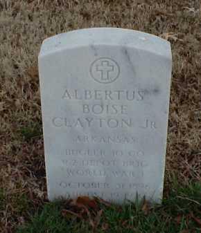 CLAYTON, JR (VETERAN WWI), ALBERTUS BOISE - Pulaski County, Arkansas | ALBERTUS BOISE CLAYTON, JR (VETERAN WWI) - Arkansas Gravestone Photos