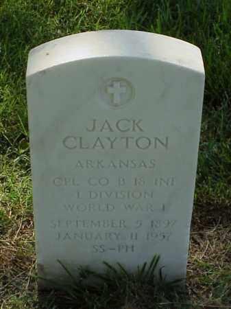 CLAYTON (VETERAN WWI), JACK - Pulaski County, Arkansas   JACK CLAYTON (VETERAN WWI) - Arkansas Gravestone Photos