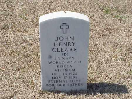 CLEARE (VETERAN 3 WARS), JOHN HENRY - Pulaski County, Arkansas | JOHN HENRY CLEARE (VETERAN 3 WARS) - Arkansas Gravestone Photos