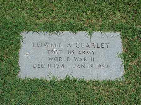 CLEARLEY (VETERAN WWII), LOWELL A - Pulaski County, Arkansas | LOWELL A CLEARLEY (VETERAN WWII) - Arkansas Gravestone Photos