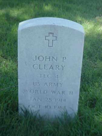 CLEARY (VETERAN WWII), JOHN P - Pulaski County, Arkansas   JOHN P CLEARY (VETERAN WWII) - Arkansas Gravestone Photos