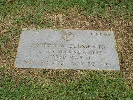 CLEMENTS (VETERAN WWII), JOSEPH A - Pulaski County, Arkansas   JOSEPH A CLEMENTS (VETERAN WWII) - Arkansas Gravestone Photos