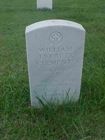 CLEMENTS (VETERAN WWII), WILLIAM EVERETT - Pulaski County, Arkansas | WILLIAM EVERETT CLEMENTS (VETERAN WWII) - Arkansas Gravestone Photos
