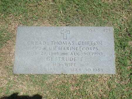 CLIFTON, GERTRUDE E - Pulaski County, Arkansas | GERTRUDE E CLIFTON - Arkansas Gravestone Photos