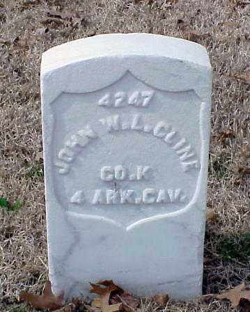 CLINE (VETERAN UNION), JOHN W L - Pulaski County, Arkansas | JOHN W L CLINE (VETERAN UNION) - Arkansas Gravestone Photos
