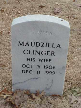 CLINGER, MAUDZILLA - Pulaski County, Arkansas | MAUDZILLA CLINGER - Arkansas Gravestone Photos
