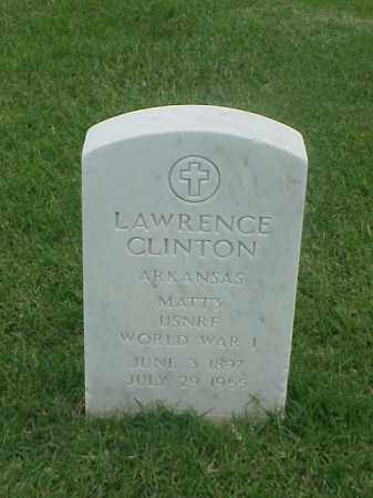 CLINTON (VETERAN WWI), LAWRENCE - Pulaski County, Arkansas | LAWRENCE CLINTON (VETERAN WWI) - Arkansas Gravestone Photos