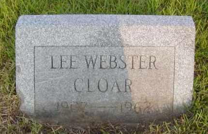 CLOAR, LEE WEBSTER - Pulaski County, Arkansas   LEE WEBSTER CLOAR - Arkansas Gravestone Photos