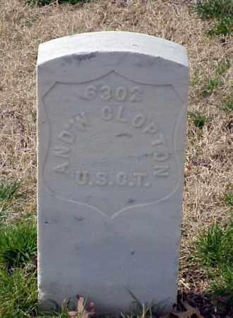 CLOPTON (VETERAN UNION), ANDREW - Pulaski County, Arkansas | ANDREW CLOPTON (VETERAN UNION) - Arkansas Gravestone Photos