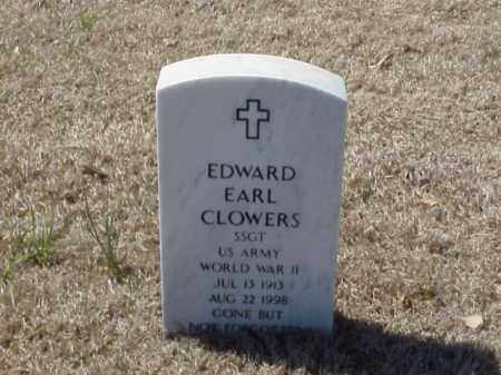 CLOWERS (VETERAN WWII), EDWARD EARL - Pulaski County, Arkansas | EDWARD EARL CLOWERS (VETERAN WWII) - Arkansas Gravestone Photos