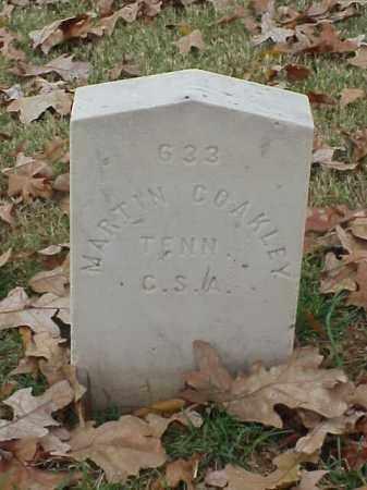 COAKLEY (VETERAN CSA), MARTIN - Pulaski County, Arkansas   MARTIN COAKLEY (VETERAN CSA) - Arkansas Gravestone Photos