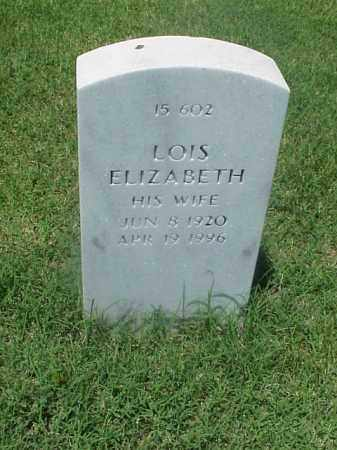COATES, LOIS ELIZABETH - Pulaski County, Arkansas | LOIS ELIZABETH COATES - Arkansas Gravestone Photos