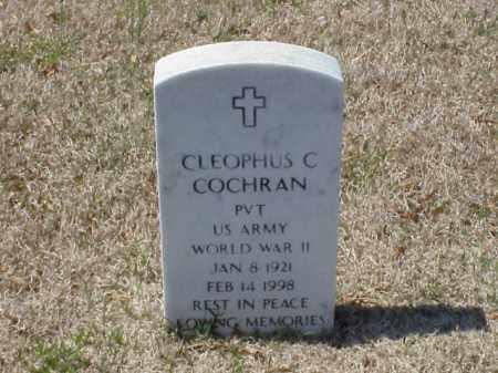 COCHRAN (VETERAN WWII), CLEOPHUS C - Pulaski County, Arkansas   CLEOPHUS C COCHRAN (VETERAN WWII) - Arkansas Gravestone Photos