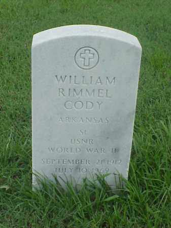 CODY (VETERAN WWII), WILLIAM RIMMEL - Pulaski County, Arkansas | WILLIAM RIMMEL CODY (VETERAN WWII) - Arkansas Gravestone Photos