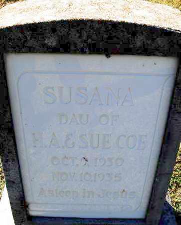 COE, SUSANA - Pulaski County, Arkansas | SUSANA COE - Arkansas Gravestone Photos