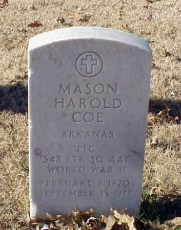 COE (VETERAN WWII), MASON HAROLD - Pulaski County, Arkansas   MASON HAROLD COE (VETERAN WWII) - Arkansas Gravestone Photos