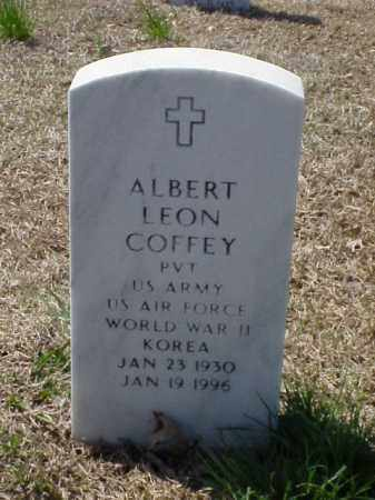 COFFEY (VETERAN 2 WARS), ALBERT LEON - Pulaski County, Arkansas   ALBERT LEON COFFEY (VETERAN 2 WARS) - Arkansas Gravestone Photos