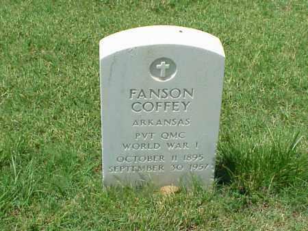 COFFEY (VETERAN WWI), FANSON - Pulaski County, Arkansas | FANSON COFFEY (VETERAN WWI) - Arkansas Gravestone Photos