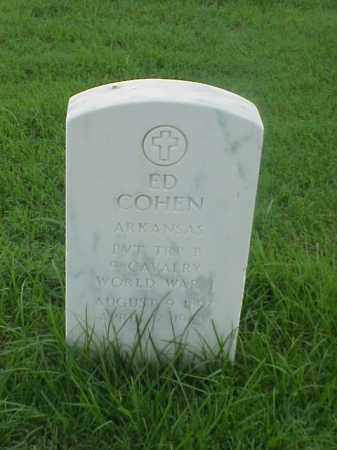 COHEN (VETERAN WWI), ED - Pulaski County, Arkansas | ED COHEN (VETERAN WWI) - Arkansas Gravestone Photos