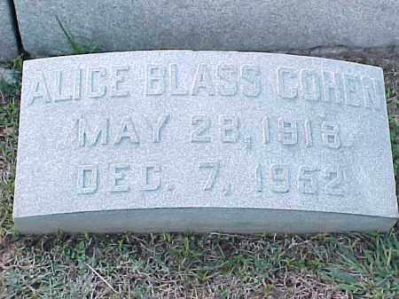 BLASS COHN, ALICE - Pulaski County, Arkansas | ALICE BLASS COHN - Arkansas Gravestone Photos