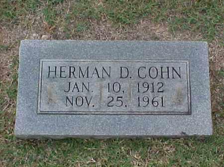 COHN, HERMAN D - Pulaski County, Arkansas   HERMAN D COHN - Arkansas Gravestone Photos