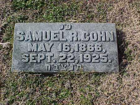 COHN, SAMUEL R - Pulaski County, Arkansas   SAMUEL R COHN - Arkansas Gravestone Photos